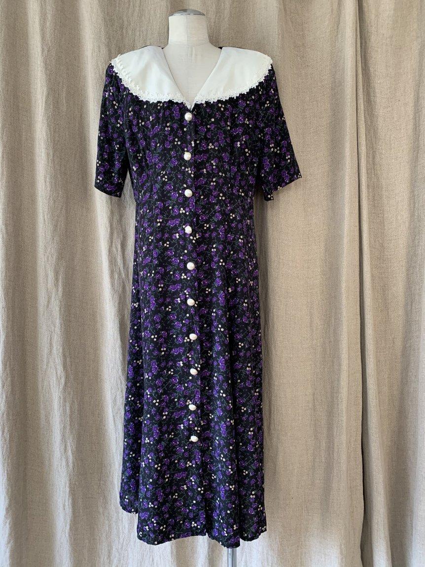flower dress(vintage&used1 )