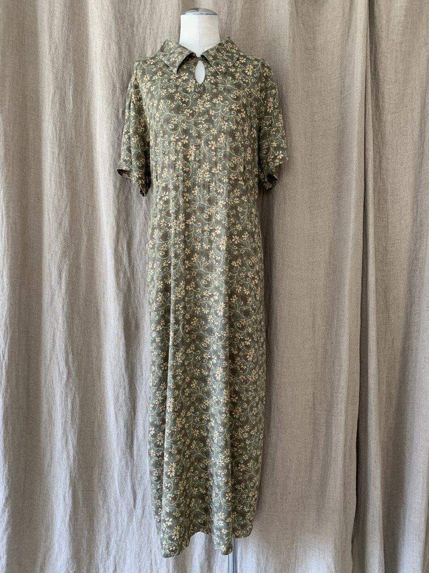 flower dress(vintage&used5 )