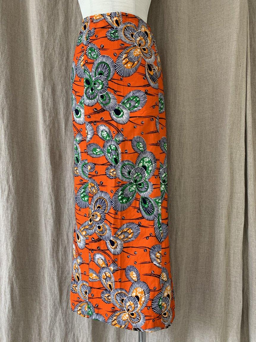 african batik skirt(vintage&used)