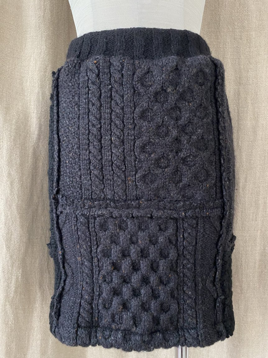 fisherman knit mini skirt -D