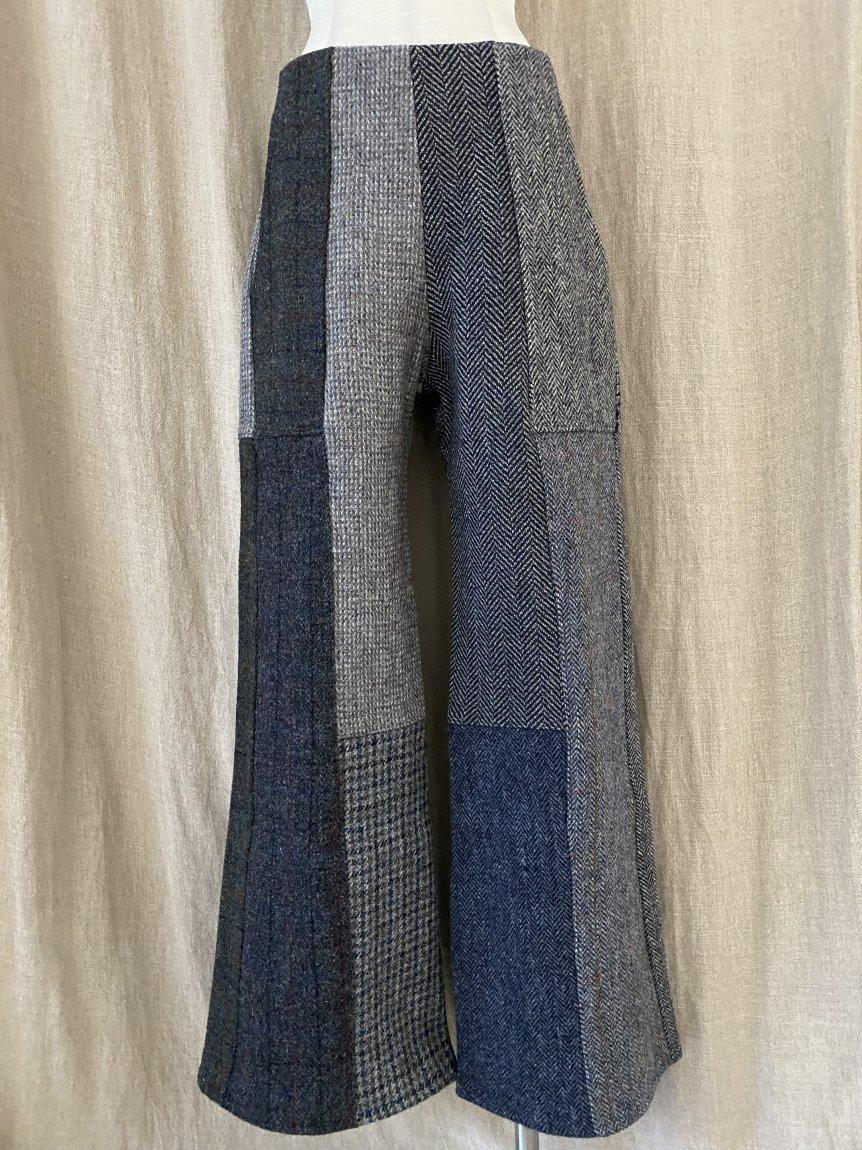 tweed patchwork pants -B(26)
