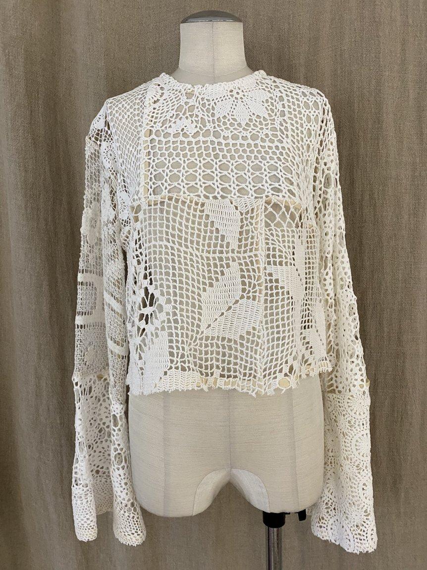 crochet lace top -b