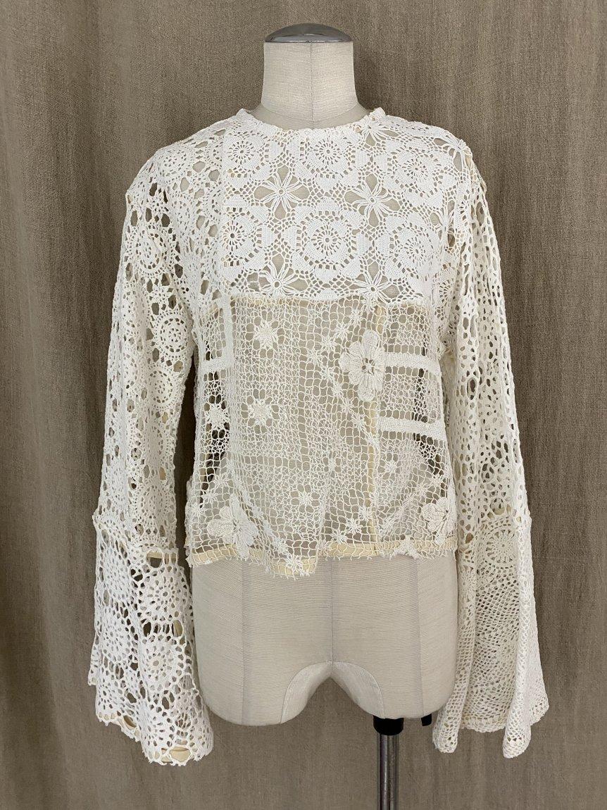 crochet lace top -c