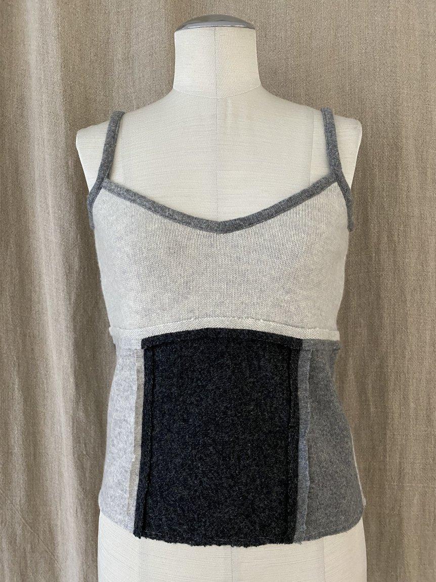 cashmere patchwork cami
