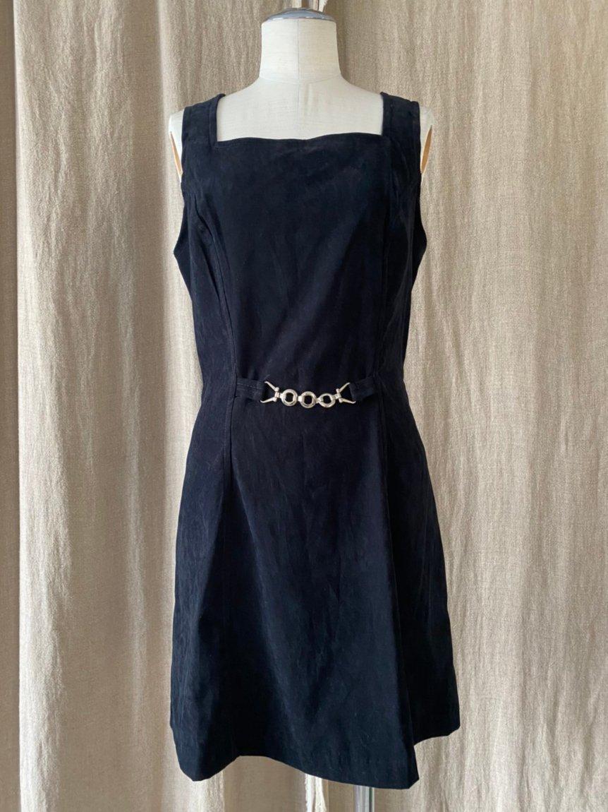 suede mini dress(vintage&used)