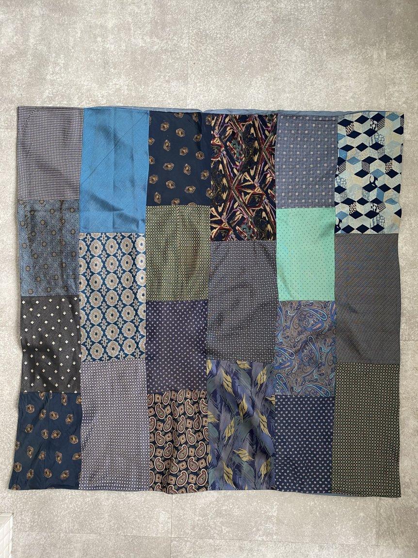 tie patchwork scarf -A