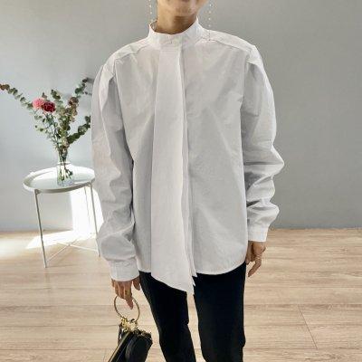 タイデザインブラウス / White