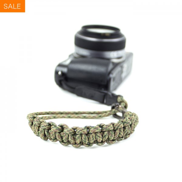 CAMERA WRIST STRAP - DIGITAL CAMO/GUNMETAL