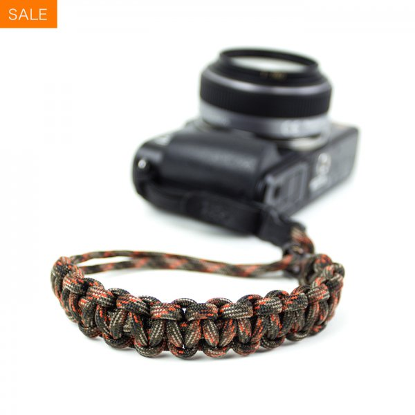 CAMERA WRIST STRAP - FALL CAMO/GUNMETAL