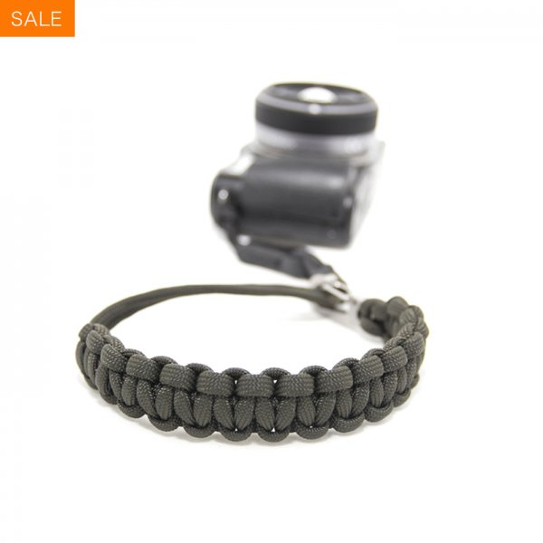 CAMERA WRIST STRAP - OLIVE/STAINLESS STEEL