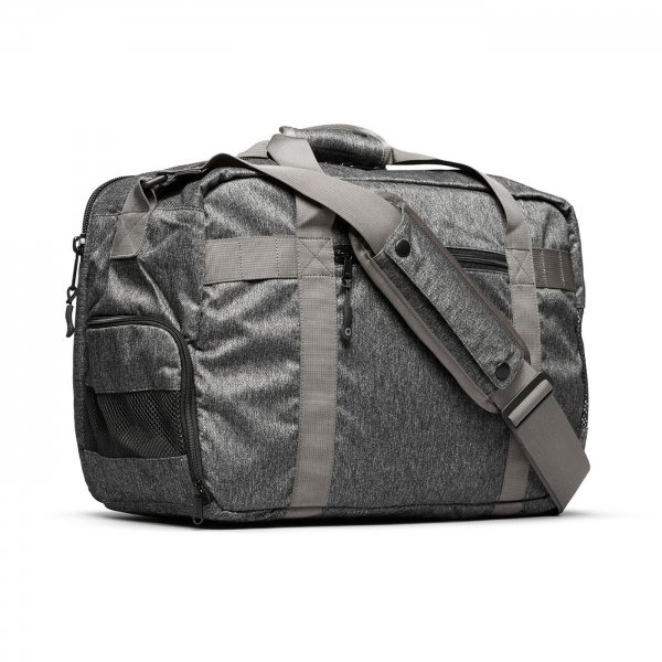 GYM/WORK BAG - GREY SPECKLED TWILL