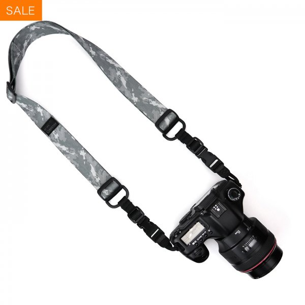 HEAVY CAMERA SLING STRAP - GREY CAMO