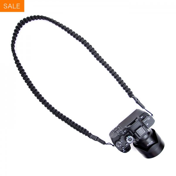 BRAIDED CAMERA SLING STRAP 37 - BLACK
