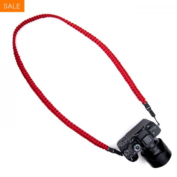 BRAIDED CAMERA SLING STRAP 37 - RED