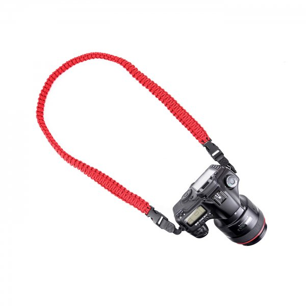 HEAVY BRAIDED CAMERA SLING STRAP 37 - RED