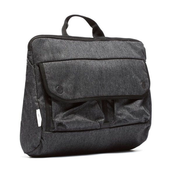 SHOULDER BAG - CHARCOAL SPECKLED TWILL