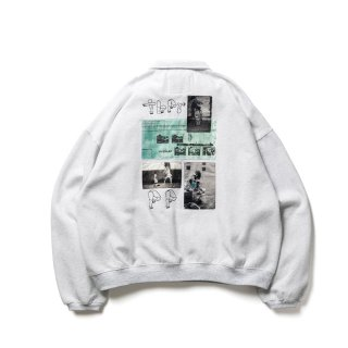 <img class='new_mark_img1' src='https://img.shop-pro.jp/img/new/icons1.gif' style='border:none;display:inline;margin:0px;padding:0px;width:auto;' />PAT HALF ZIP SWEAT(TIGHTBOOTH / PATS PANTS)