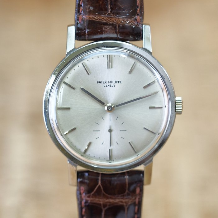 <img class='new_mark_img1' src='https://img.shop-pro.jp/img/new/icons41.gif' style='border:none;display:inline;margin:0px;padding:0px;width:auto;' />PatekPhilippe Calatrava Ref.3466 SS 自動巻 アーカイブ付き