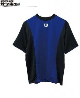 <img class='new_mark_img1' src='https://img.shop-pro.jp/img/new/icons29.gif' style='border:none;display:inline;margin:0px;padding:0px;width:auto;' />Wilson(ウイルソン) ベースボールシャツ Tシャツ (wta18hs) BBブラック×ブルー