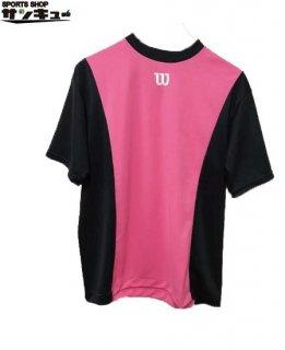 <img class='new_mark_img1' src='https://img.shop-pro.jp/img/new/icons29.gif' style='border:none;display:inline;margin:0px;padding:0px;width:auto;' />Wilson(ウイルソン) ベースボールシャツ Tシャツ (wta18hs) BPブラック×ピンク