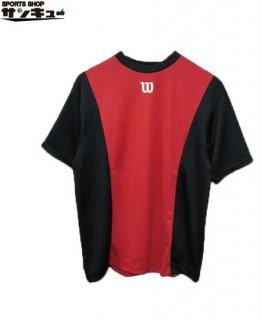 <img class='new_mark_img1' src='https://img.shop-pro.jp/img/new/icons29.gif' style='border:none;display:inline;margin:0px;padding:0px;width:auto;' />Wilson(ウイルソン) ベースボールシャツ Tシャツ (wta18hs) BRブラック×レッド