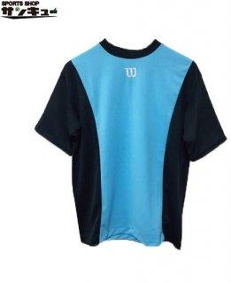 <img class='new_mark_img1' src='https://img.shop-pro.jp/img/new/icons29.gif' style='border:none;display:inline;margin:0px;padding:0px;width:auto;' />Wilson(ウイルソン) ベースボールシャツ Tシャツ (wta18hs) BSブラック×サックス