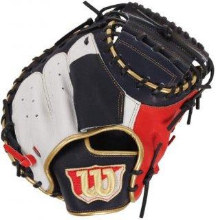 Wilson ウイルソン 野球用 軟式用 キャッチャーミット Wannabe HERO 捕手用 WTARHS2BZ ネイビー/Eオレンジ