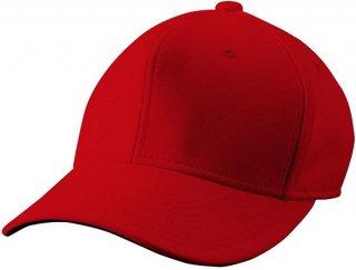 (ラスト1個)wundou(ウンドウ)【旧フロリダウインド】 ベーシック 六方型帽子 ベースボール キャップ レッド P81-11 レッド 54センチ