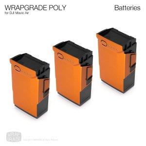 WRAPGRADE POLY for DJI Mavic Air バッテリー用 3枚セット 全20色