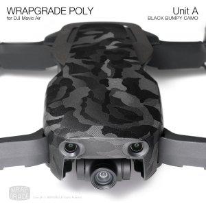 WRAPGRADE POLY for DJI Mavic Air スキン シール ユニットA ブラックバンピーカモ 【Premium】