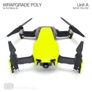 WRAPGRADE POLY for DJI Mavic Air スキン シール ユニットA ネオンイエロー