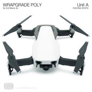 WRAPGRADE POLY for DJI Mavic Air スキン シール ユニットA レーシングホワイト