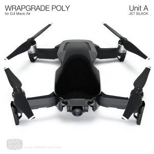 WRAPGRADE POLY for DJI Mavic Air スキン シール ユニットA ジェットブラック