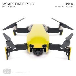 WRAPGRADE POLY for DJI Mavic Air スキン シール ユニットA リモンチーノイエロ
