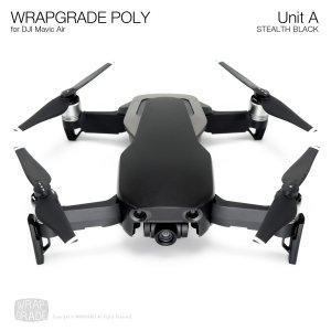 WRAPGRADE POLY for DJI Mavic Air スキン シール ユニットA ステルスブラック