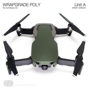 WRAPGRADE POLY for DJI Mavic Air スキン シール ユニットA アーミーグリーン