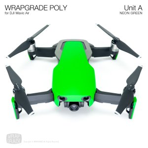<img class='new_mark_img1' src='https://img.shop-pro.jp/img/new/icons55.gif' style='border:none;display:inline;margin:0px;padding:0px;width:auto;' />WRAPGRADE POLY for DJI Mavic Air スキン シール ユニットA ネオングリーン
