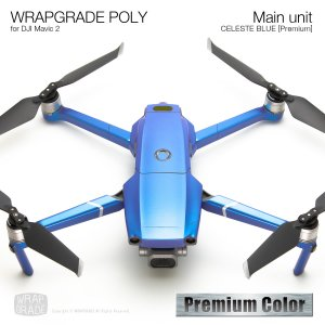 WRAPGRADE POLY for DJI Mavic 2 セレストブルー【Premium】