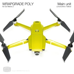 WRAPGRADE POLY for DJI Mavic 2 リモンチーノイエロ