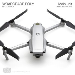 WRAPGRADE POLY for DJI Mavic 2 エアーフォースシルバー