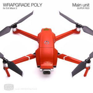 WRAPGRADE POLY for DJI Mavic 2 スーパーレッド