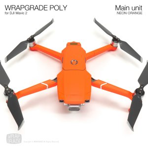 WRAPGRADE POLY for DJI Mavic 2 ネオンオレンジ