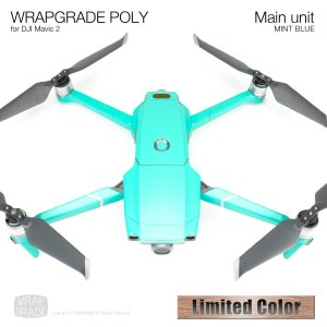 <img class='new_mark_img1' src='https://img.shop-pro.jp/img/new/icons12.gif' style='border:none;display:inline;margin:0px;padding:0px;width:auto;' />WRAPGRADE POLY for DJI Mavic 2 ミントブルー(サテン・半ツヤ)[数量限定色]