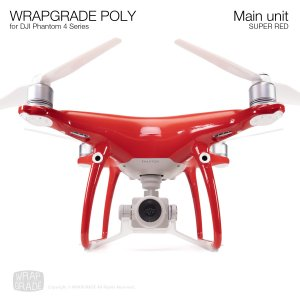 <img class='new_mark_img1' src='https://img.shop-pro.jp/img/new/icons12.gif' style='border:none;display:inline;margin:0px;padding:0px;width:auto;' />WRAPGRADE POLY for DJI Phantom 4シリーズ スーパーレッド