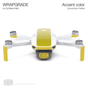 <img class='new_mark_img1' src='https://img.shop-pro.jp/img/new/icons12.gif' style='border:none;display:inline;margin:0px;padding:0px;width:auto;' />WRAPGRADE POLY for Mavic Mini 用 アクセントカラー リモンチーノイエロ