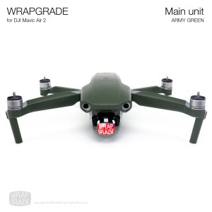 <img class='new_mark_img1' src='https://img.shop-pro.jp/img/new/icons12.gif' style='border:none;display:inline;margin:0px;padding:0px;width:auto;' />WRAPGRADE for DJI Mavic Air 2 アーミーグリーン