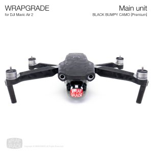 <img class='new_mark_img1' src='https://img.shop-pro.jp/img/new/icons12.gif' style='border:none;display:inline;margin:0px;padding:0px;width:auto;' />WRAPGRADE for DJI Mavic Air 2 ブラックバンピーカモ【Premium】