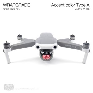 <img class='new_mark_img1' src='https://img.shop-pro.jp/img/new/icons12.gif' style='border:none;display:inline;margin:0px;padding:0px;width:auto;' />WRAPGRADE for DJI Mavic Air 2 アクセントカラー A レーシングホワイト