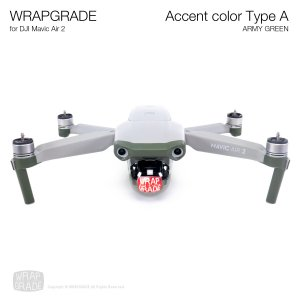 <img class='new_mark_img1' src='https://img.shop-pro.jp/img/new/icons12.gif' style='border:none;display:inline;margin:0px;padding:0px;width:auto;' />WRAPGRADE for DJI Mavic Air 2 アクセントカラー A アーミーグリーン