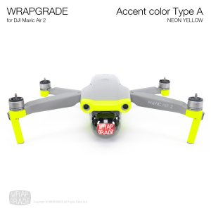 <img class='new_mark_img1' src='https://img.shop-pro.jp/img/new/icons12.gif' style='border:none;display:inline;margin:0px;padding:0px;width:auto;' />WRAPGRADE for DJI Mavic Air 2 アクセントカラー A ネオンイエロー